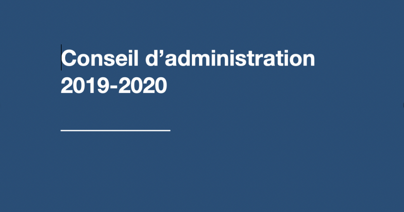L'Association professionnelle des arts de la scène présente son nouveau conseil d'administration 2019 – 2020