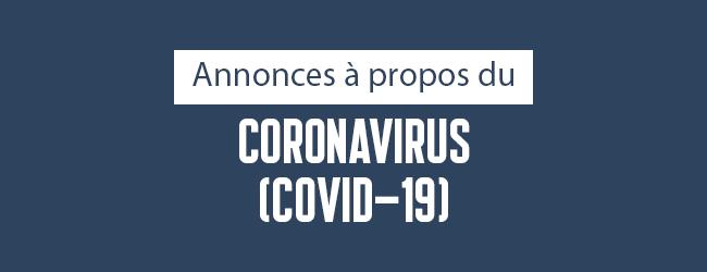 CALQ | Annonce à propos du coronavirus